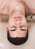 Caucasian handsome spa man — Stockfoto