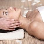 Massage,flower,spa gels — Stock Photo #2120226