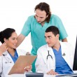 Stock Photo: Doctors in a meeting at the hospital