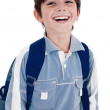 Young little boy laughing happily — Stock Photo