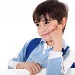 Portrait of a adorable school boy — Stock Photo