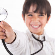 Little doctor showing his Stethoscope — Stock Photo #2277758