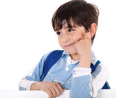 Portrait of a adorable school boy — Stock Photo