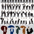 Stock Vector: Businessman's silhouettes