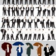 Royalty-Free Stock Imagen vectorial: Businessman's silhouettes