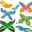 Decorative butterflies — Vettoriali Stock