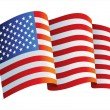 Royalty-Free Stock Vector Image: United States flag