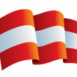 Austria flag — Stockvectorbeeld