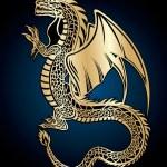 Golden dragon — Stock Vector