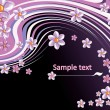 Vector de stock : Abstract floral background