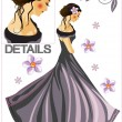 Vector de stock : Beautiful girl