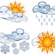 Symbols of the weather - Stock Vector