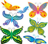 Decorative butterflies — Stock Vector