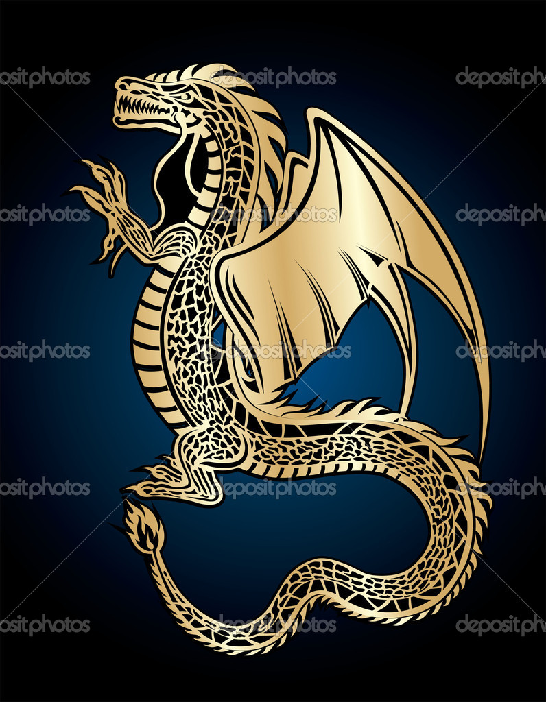 Golden dragon  — Stock Vector #1297122