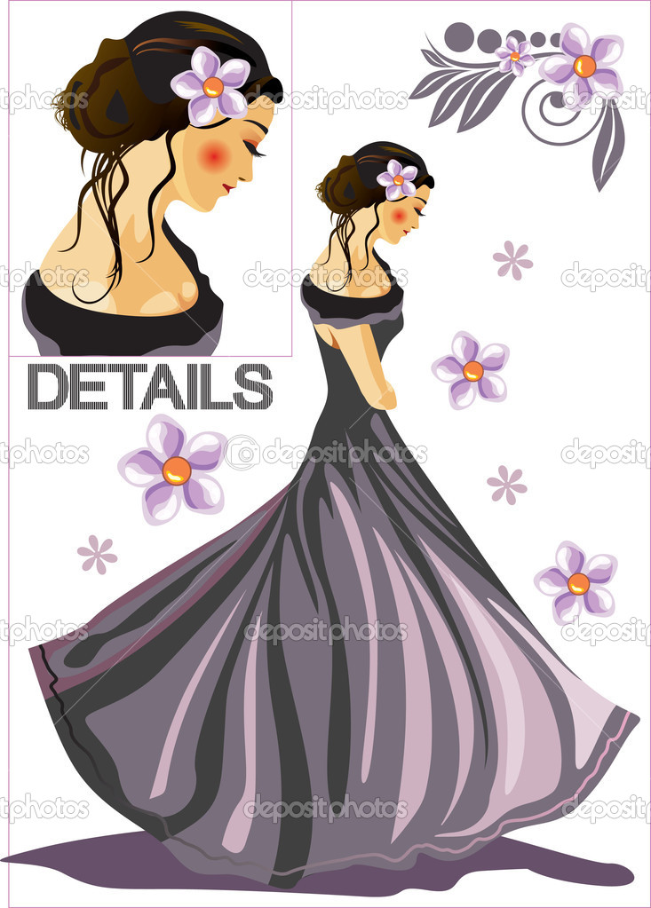Beautiful girl — Stock Vector #1297432