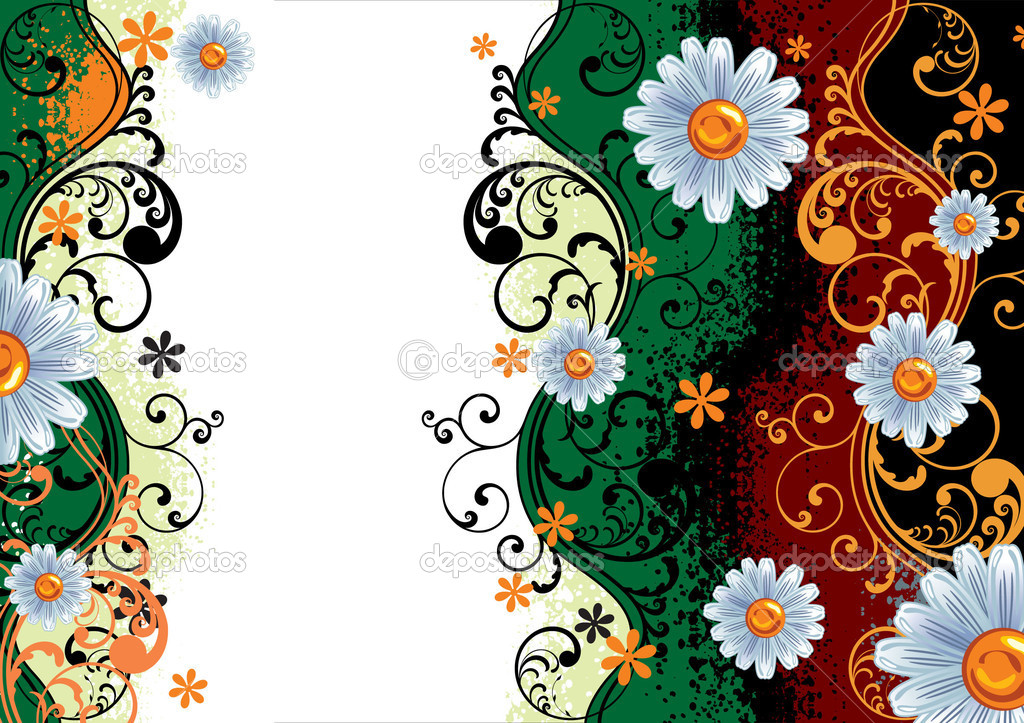 Abstract floral background  — Stock Vector #1297478