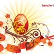 Royalty-Free Stock Imagem Vetorial: Background, beautiful easter egg
