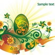 Royalty-Free Stock Imagen vectorial: Background, beautiful easter egg