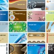 Royalty-Free Stock Векторное изображение: Collection backgrounds for business cards