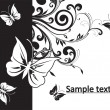 Stockvector : Flowers background