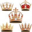 Stock Vector: Vectorized crown