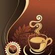 Royalty-Free Stock Vector Image: Cup of coffee with abstract background