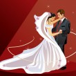 Bride and Groom - Vector - Stock Vector