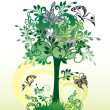 Royalty-Free Stock Imagen vectorial: Decorative tree from pattern