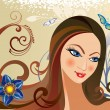 Beautiful girl - Stock Vector