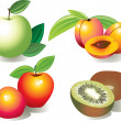 Royalty-Free Stock Vektorgrafik: Series fruit