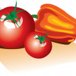 Royalty-Free Stock Vector Image: Tomato and pepper