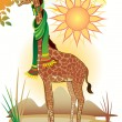 Fairy-tale giraffe - Stock Vector