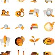Royalty-Free Stock Vector Image: Set of 20 web icons
