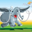Funny fairy-tale mammoth — Stockvector #2388133