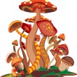 Abstract mushrooms - Stockvectorbeeld