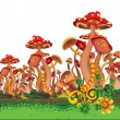 Royalty-Free Stock Vector Image: Mushrooms