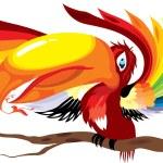 Beautiful parrot — Stock Vector