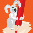 Royalty-Free Stock Imagen vectorial: Hare with a pencil