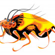 Beautiful bug - Stock Vector