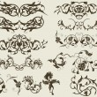 Vector de stock : Floral elements for design