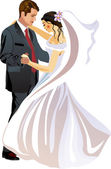 Bride and Groom - Vector — Stock Vector