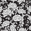 Seamless floral background — Vector de stock