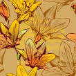 Vector de stock : Seamless floral background