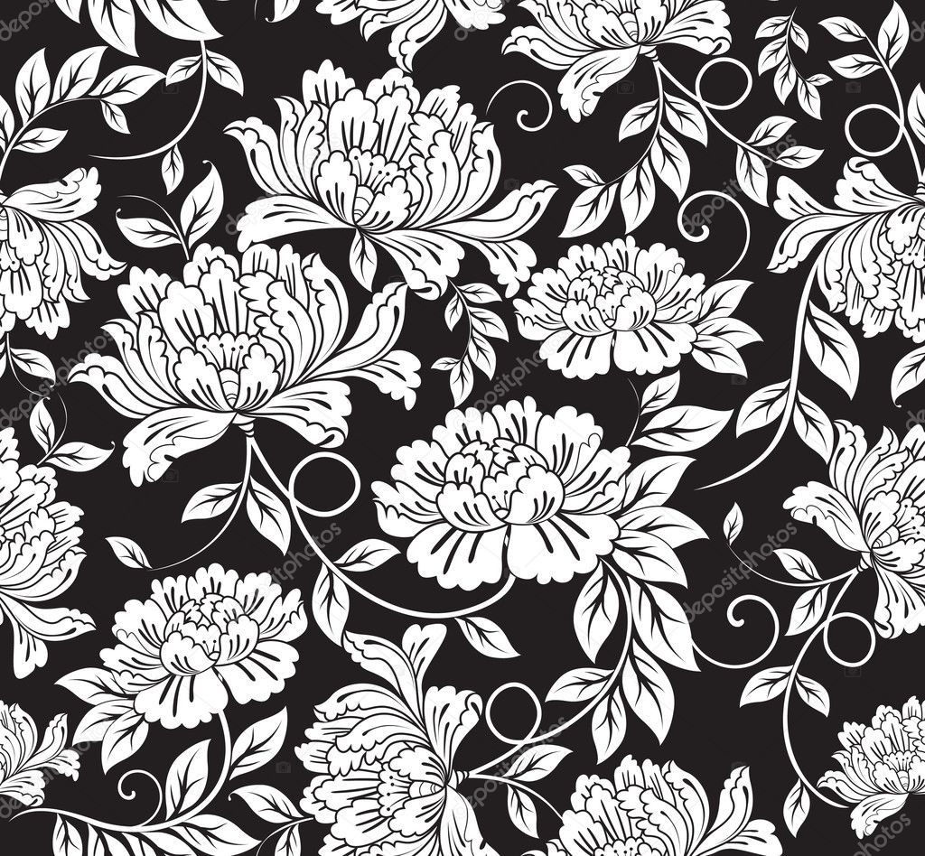 Seamless floral background  Imagens vectoriais em stock #2572205