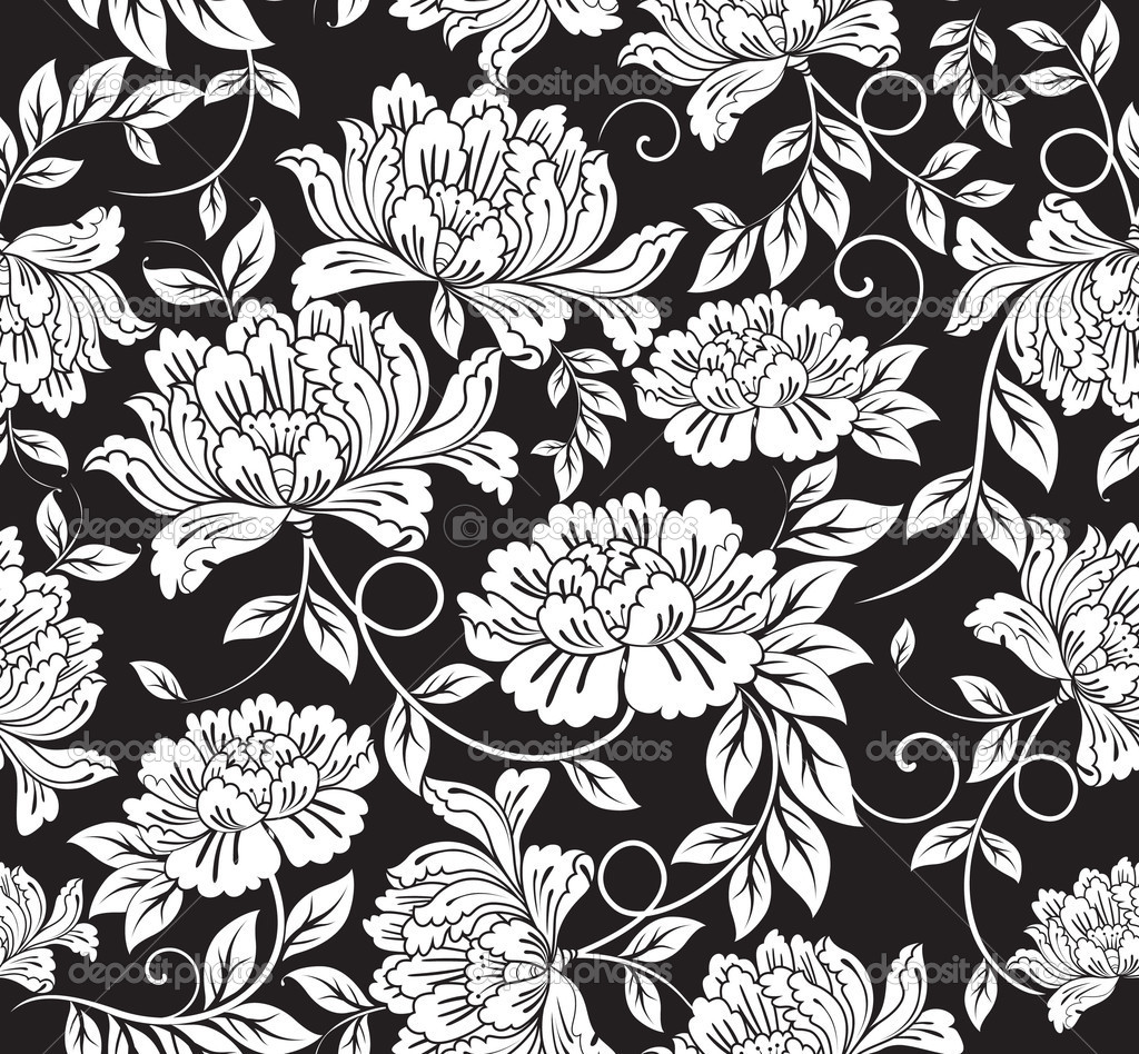 Seamless floral background  Imagen vectorial #2572205