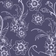 Seamless floral background — Stockvektor