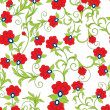 Seamless floral background — Stock vektor #2603445