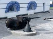 Old ship gun. Arkhangelsk. — Stock Photo