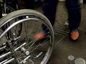 Tekerlekli sandalye. — Stok fotoğraf