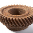 Rusty gears on a white background — Zdjęcie stockowe
